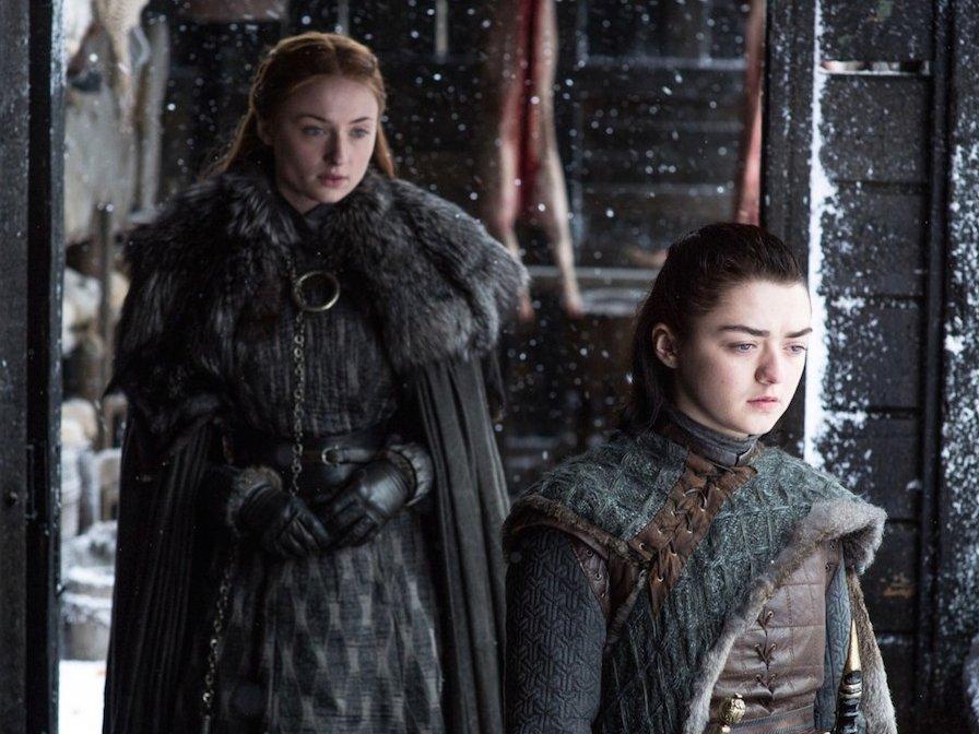arya sansa stark game of thrones season 7 beyond the wall